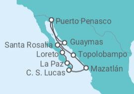 Itinerario del Crucero Tesoros del Mar de Cortés - Cruise and Maritime